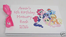 PERSONALISED MY LITTLE PONY BIRTHDAY PARTY MEMORY/SCRAPBOOK PHOTO ALBUM GIFT