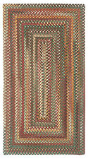 Capel Rugs Sherwood Forest Wool Country Lodge Rectangle Braided Rug #550 Red