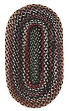 Capel Rugs St. Johnsbury Wool Double Braid Country Home Braided Black Rug