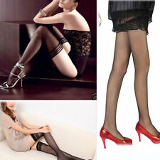 Fashion Fancy Women Sexy Lace Top Stay Up Thigh-Highs Stockings Tights Black