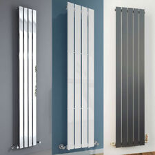 VERTICAL ANTHRACITE WHITE CHROME FLAT PANEL SINGLE COLUMN DESIGNER RADIATOR