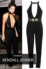 New Ladies Womens Super Sexy Dress Celeb Inspired Style sexy Jumpsuit Size 8-14
