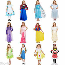 Fancy Dress Girls Disney Princess Inspired Up Costume Party Outfit Book Day New