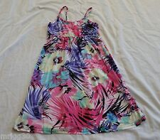 GIRLS KABOOSH summer DRESS NEW pink  with blue and purple flowers NEW
