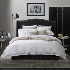 Private Collection SHADOW STRIPE WHITE Doona Quilt Cover Set 3 Bed Sizes