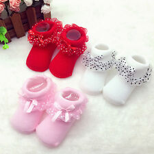 Sweety Toddlers Infant Cotton Ankle Socks Baby Princess Bowknots Socks 0-6 Month