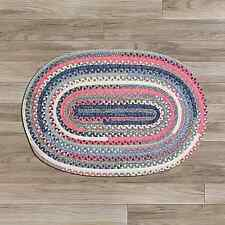 Colonial Mills Print Party Cotton Oval Country Braided Rug Crushed Coral PY79