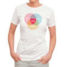 NEW Love cookies women's white t-shirt by Caravan Clothing Co