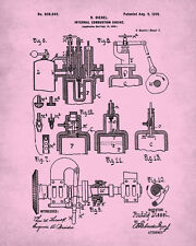 Diesel Engine Patent Print Wall Art Engineering Poster Man Cave Art Home Decor