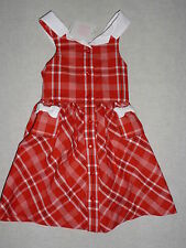 Janie and Jack CAMELLIA SUMMER Red Plaid Dress NWT 6-12 6 9 12