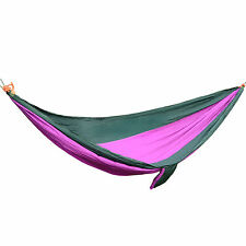 Portable Cotton Rope Outdoor Swing Fabric Camping Hanging Hammock Canvas Bed New