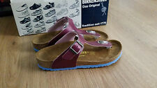 BIRKENSTOCK - GIZEH PURPLE WITH LIGHT BLUE SOLES KIDS- RRP $100 SAVE $25