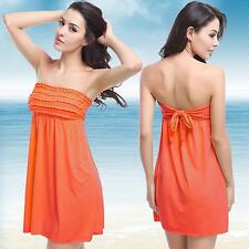 Summer Women Bathing Suit Sexy Off-Shoulder Bikini Swimwear Cover Up Beach Dress