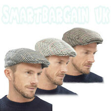 Tweed herringbone Gatsby Cap Hat Mens Ladies Flat 8 Panel Baker Boy Newsboy