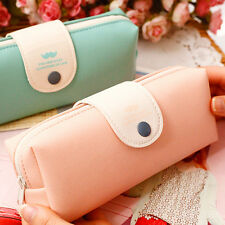 Portable Leather Makeup Cosmetic Brush Pen Pencil Case Organizer Pouch Bag Box