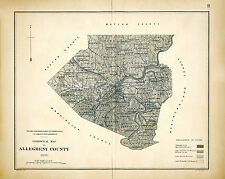 Allegheny County PA 1878 Geology Map Repro Large Photo Poster 8x10 to 30x40