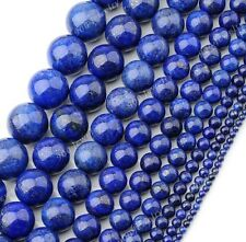 1 Strand Lapis Lazuli Gemstone Ball Loose Bead Jewelry DIY 3/4/6/8/10/12/14/16mm