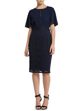 RRP £85 ex HOUSE OF FRASER UNTOLD FLUTTER SLEEVE SHIFT DRESS WITH LACE SKIRT
