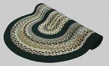 New Englands Minuteman Wool Country Oval Braided Rug Beige Grey Tan Green #7