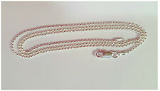 "Sterling Silver 925 BEAD DESIGN 120-1.2MM CHAIN ITALIAN NECKLACE 16""18""20""24""30"""