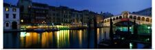 Poster Print Wall Art entitled Grand Canal and Rialto Bridge Venice Italy