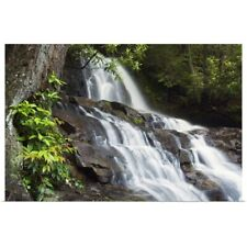 Poster Print Wall Art entitled Water cascading over rocky cliffs, Laurel Creek