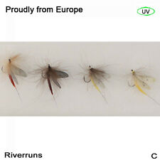 Riverruns Realistic Flies Mayfly Dry Flies Trout UV flies 4 Color With Fly Box