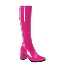 Funtasma GOGO-300 Women's Hot Pink Patent Costume  Knee High Boots