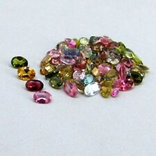 Natural Multi Tourmaline Oval Cut Calibrated Size 3x4mm - 4x6mm Gemstone