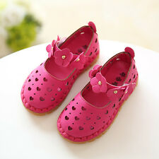 Cute New 2016 Spring Summer Baby Kids Girls Hollow Hearts Flowers Sandals Shoes