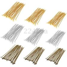 New 250pcs 40mm 200x50mm Bronze Gold Silver Plated Metal Flat Head Pins Headpins