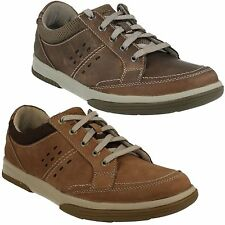 WAVECAMP PATH MENS CLARKS LACE UP NUBUCK LIGHTWEIGHT CASUAL SPORTY WALKING SHOES