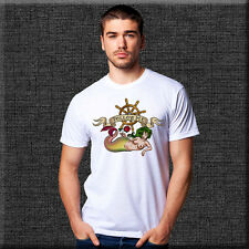 White T-SHIRT SAILOR JERRY TATTOO 'Follow Me' Sublimation Print  - All sizes