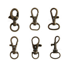 10pcs Lobster Swivel Clasps Clips Bag Key Ring Hooks Jewellery Findings Keychain
