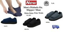 NEW SILVERTS MENS XXW EXTRA WIDE WIDTH SLIPPERS SWOLLEN FEET DIABETIC ADJUSTABLE