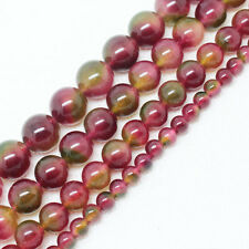 6,8,10,12,14mm Beautiful Multi-color Jade Round loose beads 15""