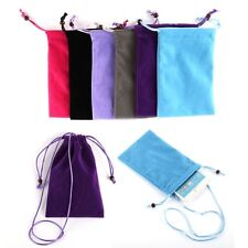 "Multi Color Velvet Sleeve Coin Purse Key Pouch Case For 5.5"" CellPhone Cover Bag"