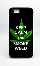 NEW KEEP CALM SMOKE WEED POT PHONE CASE COVER FOR IPHONE 6S 6 PLUS 5C 5S 5 4