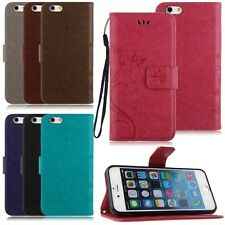 Magnetic PU Leather Butterfly Stand Case Cover Protect Skin For Apple iPhone