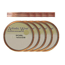 Natural Copper Artistic Round Wire - choose from gauges 20 22 24 26 or 28