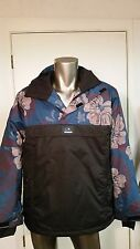 New Quiksilver DryFlight 10K Ski Snow rain waterproof hooded Jacket coat