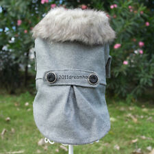 NEW Luxury  Fashion Trend Dog Pet Clothes Dog Apparel Warm Faux Fur