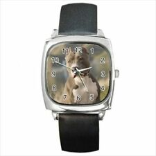 American Pit Bull Terrier Round & Square Leather Strap Watch - Dog Puppy