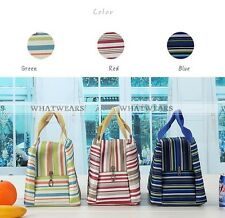 1x Cooler Thermal Picnic Lunch Bag Insulated Tinfoil Waterproof Carry Tote 30N