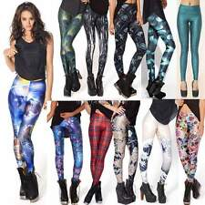 Womens Colorful Pattern Print Leggings Stretchy Sexy Jeggings Pencil Pants NC89