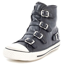 Ash Virgin Womens Leather Black Trainers