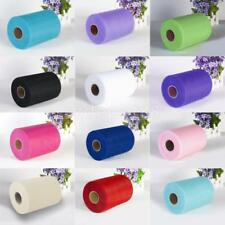 "6"" 100Yards Tutu Tulle Roll Spool Gift Wrap Craft Bow Wedding Party Decoration"
