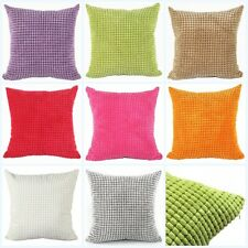 Velvet Square Cushion Cover 9Color Room Office Home Sofa Decor Throw Pillow Case