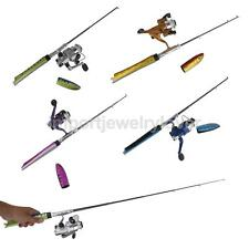 Telescopic Portable Pocket Fish Pen Fishing Tackle Rod Pole + Spinning Reel Line