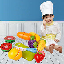 2016 new Kid educational toy Role Play Kitchen Fruit Vegetable Food Toy Set